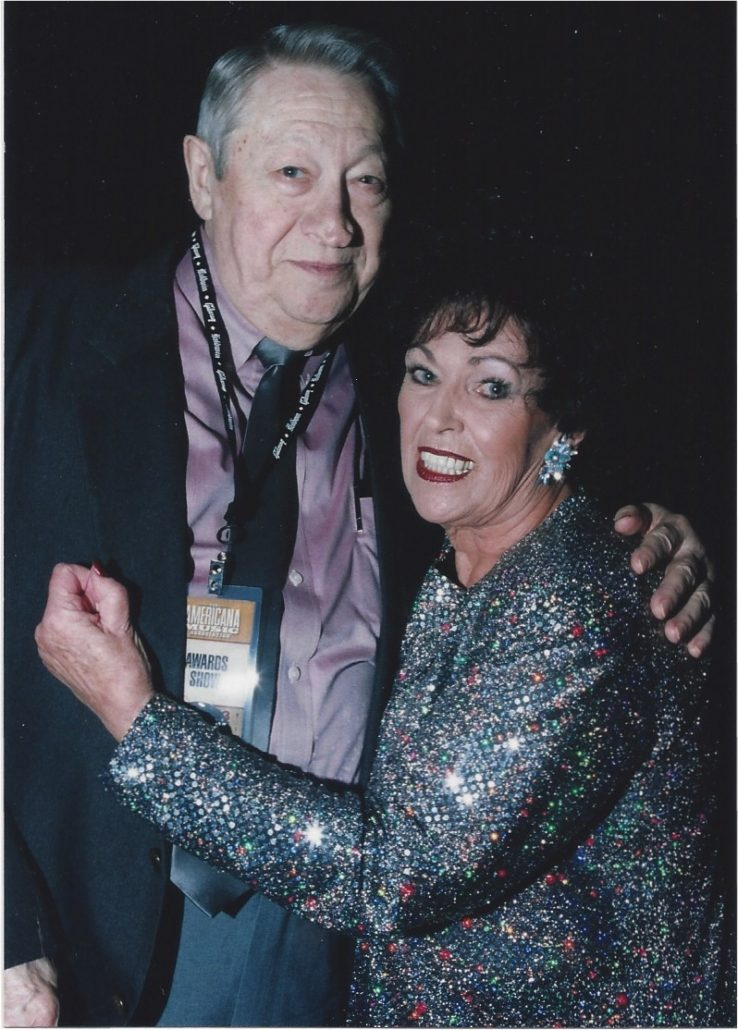 Scotty Moore and longtime pal Wanda Jackson-1